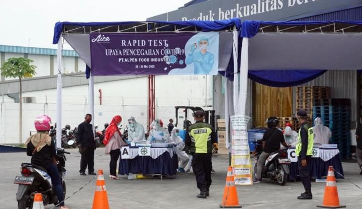 Sambut New Normal, 801 Karyawan Aice Group Jalani Rapid Test