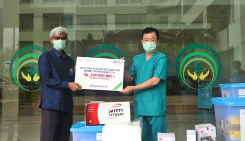 Tangggap Covid-19, BNI Syariah Salurkan Bantuan ke RSKD Duren Sawit Jakarta
