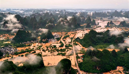 Korban Tewas Banjir di China Tembus 69 Orang, Lima Lainnya Masih Hilang