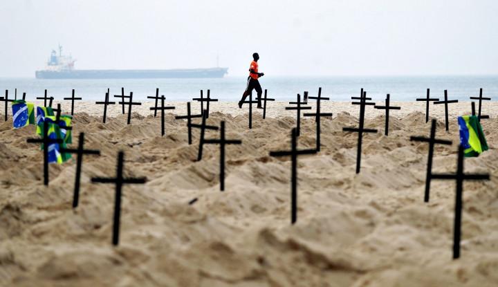 Memburuk, 80 Ribu Pasien di Brasil Mati Akibat Infeksi Covid-19