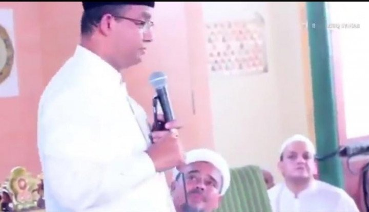Viral Lagi, Video Anies Tolak Reklamasi di Depan Habib Rizieq..