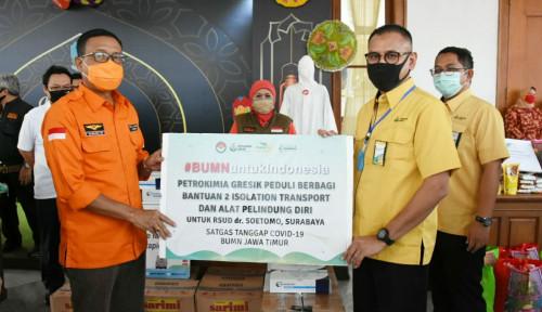 Satgas Covid-19 BUMN Jatim Salurkan Bantuan Rp34,88 Miliar