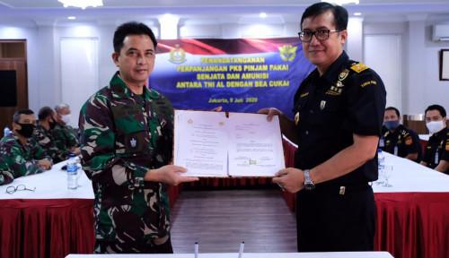 Kerja Sama Pinjam Pakai SMB 12,7 mm TNI AL dan Bea Cukai