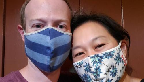 Foto Mark Zuckerberg Semangat Ajak Semua Orang Pakai Masker