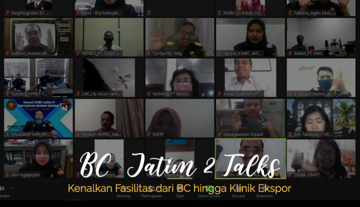Pacu Ekspor, Bea Cukai Jatim II Asistensi Pelaku Usaha via Daring