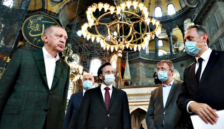 Hagia Sophia Dikagetkan dengan Kunjungan Dadakan Erdogan