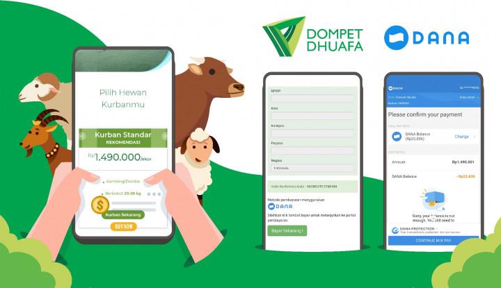 Gandeng Dompet Dhuafa, DANA Sediakan Solusi Kurban Digital