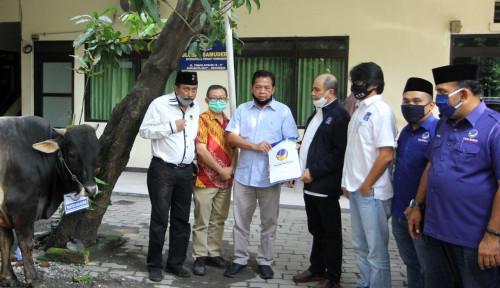 Sambut Idul Adha, NasDem Sumbang Sapi Kurban pada PWI Jatim