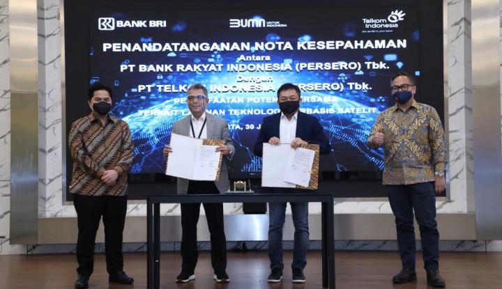 Mantap! BRI Kolaborasi dengan Telkom Tingkatkan Layanan Satelit