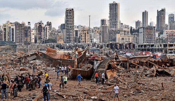 Masih Banyak Mayat Terkubur di Sekitar Gedung TKP Ledakan Beirut