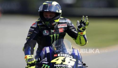 Kecelakaan MotoGP, Rossi Nyaris Tertimpa Motor Morbidelli