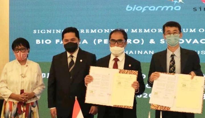 Bio Farma dan Sinovac Siap Diproduksi 40 Juta Vaksin Covid-19