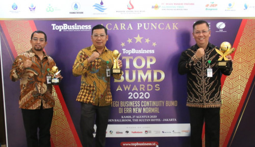 Hattrick, PT Food Station Sabet 4 Award di TOP BUMD 2020