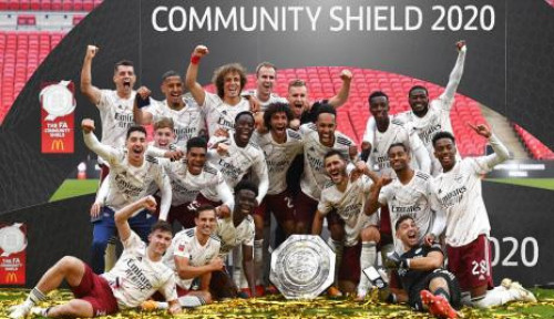 Tekuk Liverpool, Arsenal Raih Trofi Community Shield 2020
