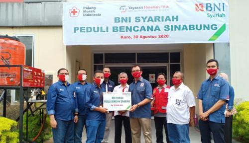 Peduli Sinabung, BNI Syariah Medan Salurkan Paket Sembako