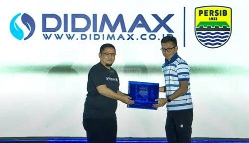 DIDIMAX Jadi Sponsor Trading Resmi Persib Senilai Rp10 Miliar