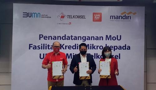 Foto Telkomsel Gaet LinkAja & Mandiri, Beri Kredit ke 500 Ribu UMKM