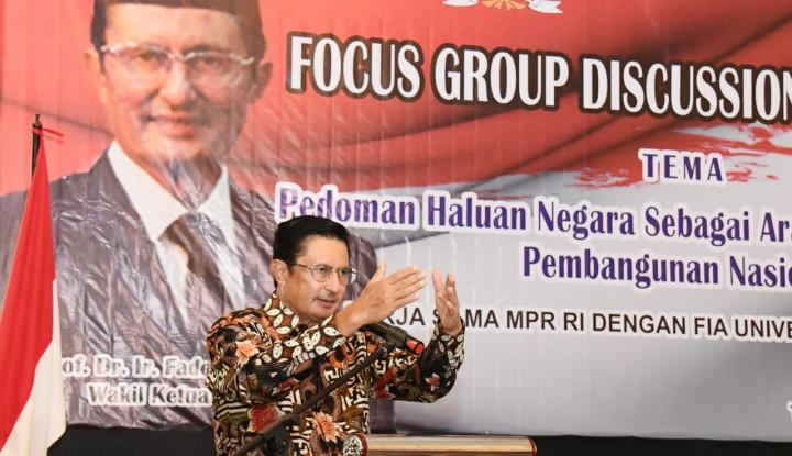 Pimpinan MPR Gali Pandangan Akademisi dan Birokrasi Terkait Haluan Negara