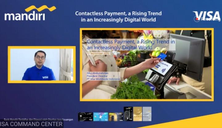 Visa-Bank Mandiri Dorong Pembayaran Contactless, Lebih Aman dan Praktis