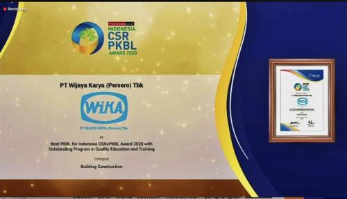 WIKA Raih Penghargaan The Best PKBL for Indonesia CSRxPKBL Award 2020