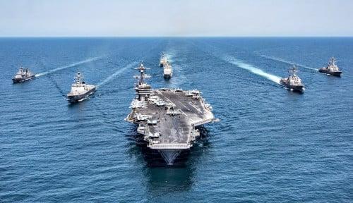 Manuver Kapal Perusak Amerika di LCS Bikin Armada Kapal Induk China Makin Gusar