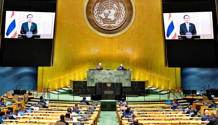 Prihatin ke Taliban, Begini Pinta Emir Qatar di Muka Sidang Majelis Umum PBB