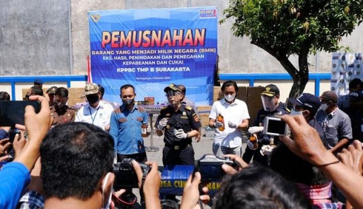 Bea Cukai Surakarta Musnahkan Barang Ilegal Senilai Rp1,18 Miliar