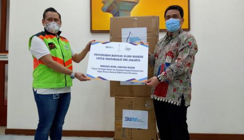 Potong Rantai Penularan Covid-19, Satgas BUMN DKI Bagi-Bagi Masker