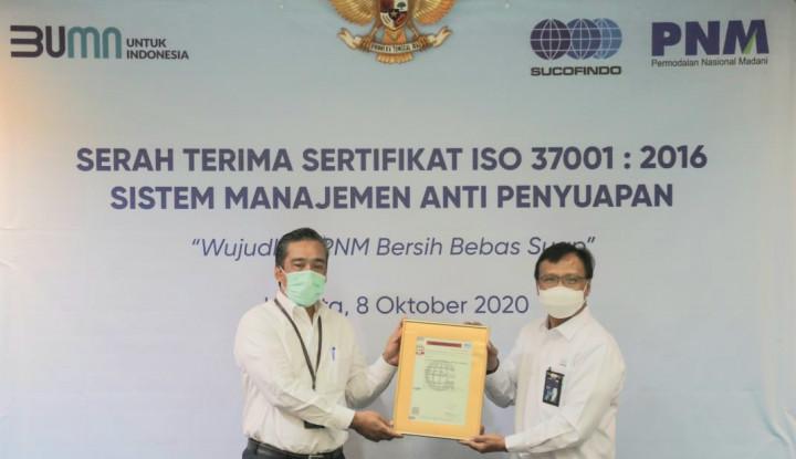 PNM Terima Sertifikat Sistem Manajemen Anti-Penyuapan