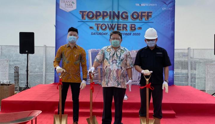 Cihui, Trans Park Cibubur Tower B Sudah Topping Off