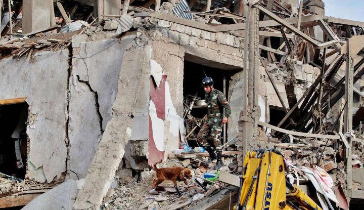 Mengerikan, Kota Terter Azerbaijan Dihujani 100 Roket Tentara Armenia