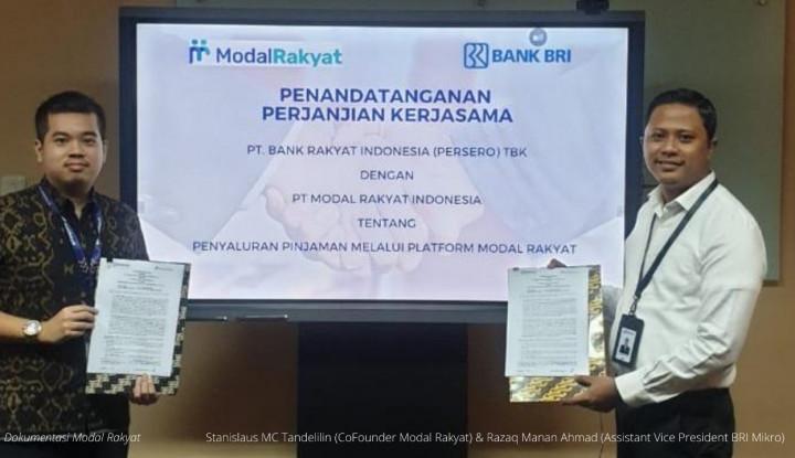BRI Gandeng Modal Rakyat Salurkan Pembiayaan Rp30 Miliar untuk UMKM Indonesia