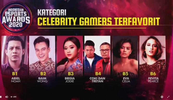 Wah, Ariel Hingga Pevita Pearce Jadi Nominasi di Ajang Indonesian Esports Awards