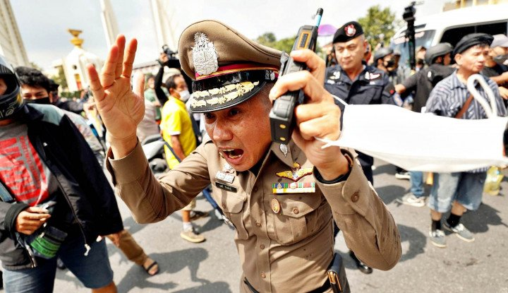 Unjuk Rasa di Thailand Dibalas Meriam Air, Pimpinan Aksi Protes