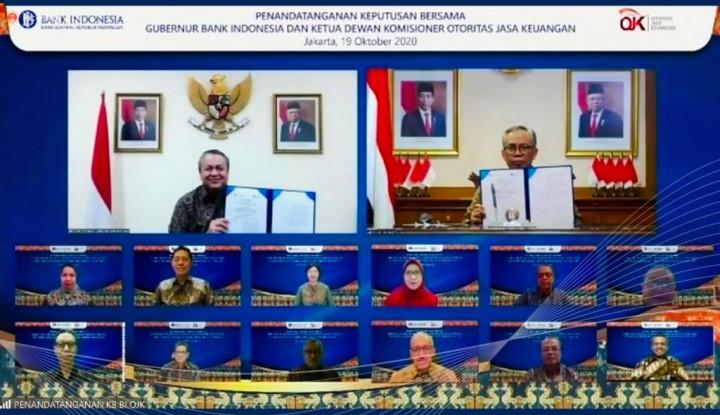 BI dan OJK Kolaborasi Atasi Bank Seret Likuiditas
