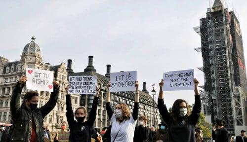 Foto Inggris Lockdown Gelombang Kedua, Pengusahanya Teriak Gak Terima: 'Pemerintah Lalai!'