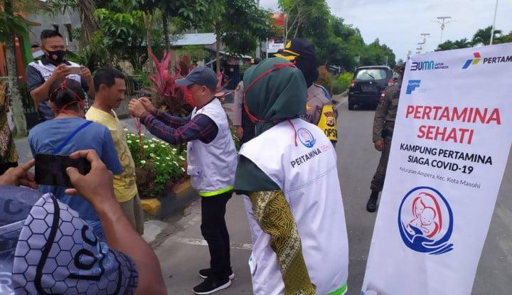 Pertamina Gandeng Filantra Gelar Pendampingan Posyandu dan Operasi Disiplin Masker
