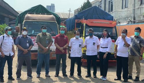 Meski Tanggal Merah, Akhir Oktober, BGR Logistics Berangkatkan Truck Bansos dari Kemensos