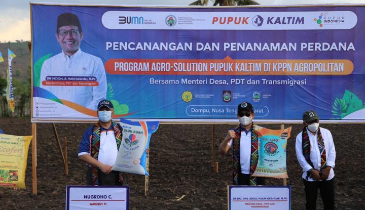 Wujudkan Ketahanan Pangan, Pupuk Kaltim Gagas Program Agro Solution di Dompu NTB