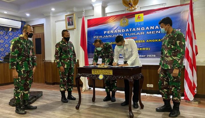 PLN-TNI AL Tanda Tangani Perjanjian Tukar-Menukar Tanah Barang Milik Negara 12.000 M²