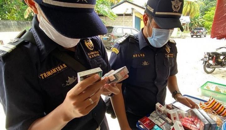 Bea Cukai Sita Ratusan Ribu Rokok Ilegal Setara Ratusan Juta Rupiah