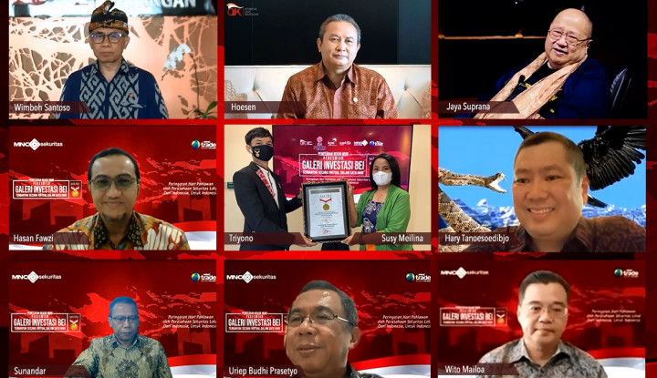 Resmikan Galeri Investasi Terbanyak secara Virtual, Perusahaan Sekuritas Hary Tanoe Sabet Rekor MURI
