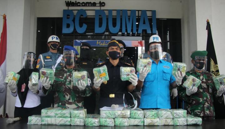 Bea Cukai Gagalkan Penyelundupan 50 Kg Sabu dari Malaysia Senilai Rp100 M
