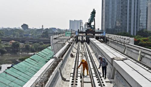 Empat BUMN Keroyokan, Pembangunan LRT Jabodebek Sudah 80%