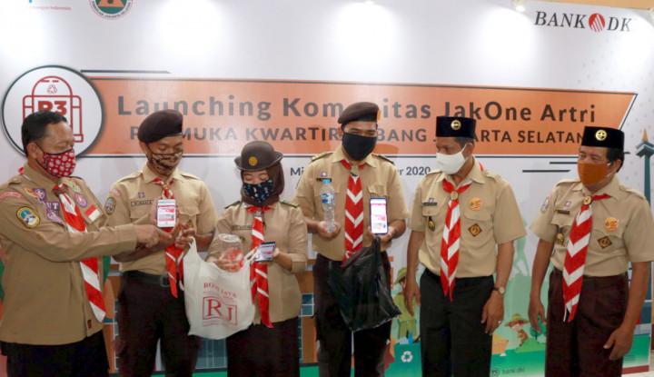 Biar Jakarta Bersih, Bank DKI Ajak Pramuka Gabung di JakOne Artri