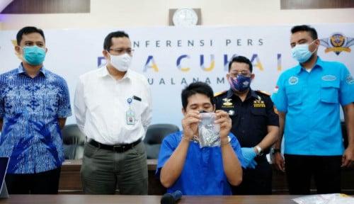 Bea Cukai Kualanamu Gagalkan Penyelundupan Paket Ganja Cair