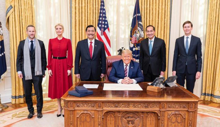 Saat Luhut Kunjungi Kantor Trump, Ini yang Disepakati Antara RI dan AS