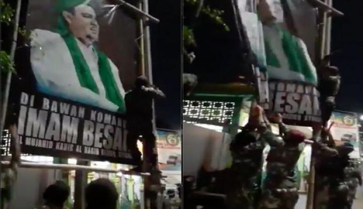 TNI Bredel Baliho Habib Rizieq, Eh Demokrat Nyeletuk, Katanya Negara Sudah Kalah
