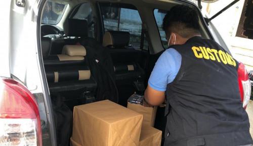 Bea Cukai Tegah Mobil Rokok Ilegal di Kota Subulussalam