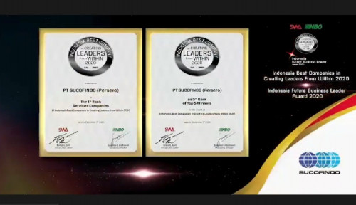 Sucofindo Raih Penghargaan di Ajang Indonesian Best Companies in Creating Leaders from Within 2020